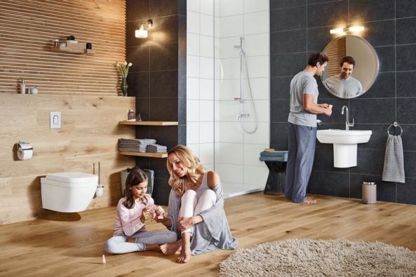 1. Kuchyňské i koupelnové baterie Grohe Eurosmart díky své konstrukci zaručují plynulou regulaci tekoucí vody a díky technologii EcoJoy sníží průtok na 5,7 litru za minutu (GROHE)