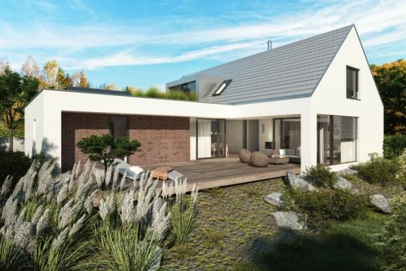 Vizualizace prvního e4 domu společnosti Wienerberger