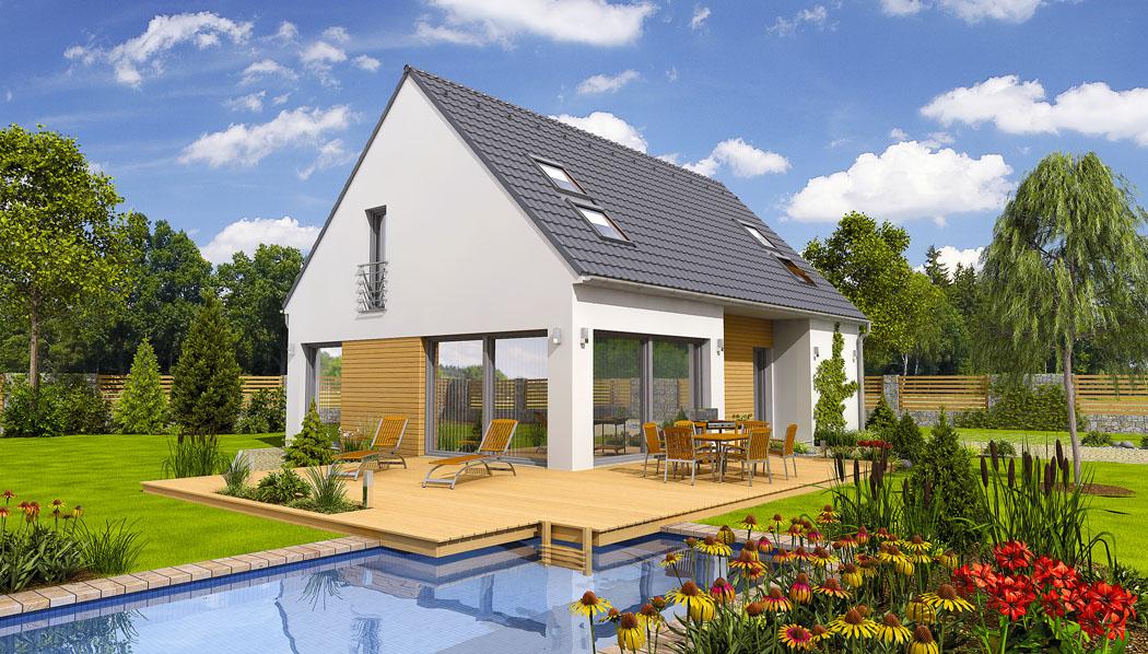 Dům Face je určen až pro 5člennou rodinu. Zaujme moderním pojetím venkovské architektury a novými stavebními prvky, jako jsou prosklené stěny a minimální přesahy střechy.