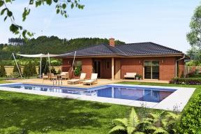 Atraktivní bungalov Rhodos společnosti  G SERVIS CZ se umístil na 2. místě v soutěži Dům roku 2017 v kategorii Katalogové domy – projekční kanceláře.