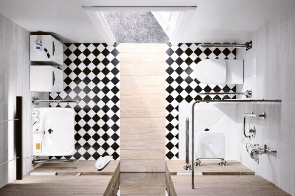 Koupelna zkolekce Kolo Nova Bez bariér Lehnen Concept, www.geberit.cz