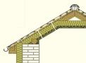 Řez střechou (ROCKWOOL)