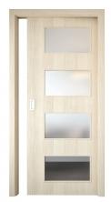 Posuvné dveře Styl 17 vdekoru dub bělený spovrchem SOLO 3D, rozměry 60–90/197, 210cm, Solodoor, www.solodoor.cz