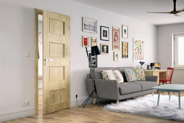 Dveře Styl spovrchem SOLO 3D vimitaci dřeva, dekor dub přírodní, Solodoor, www.solodoor.cz