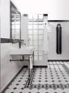 Koupelna zkonceptu Industrial, obklady ze série Brick Glosy, Ragno, cena 699 Kč/m2, dlažba Octagon, Realonda, www.siko.cz