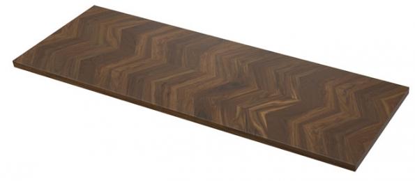 Barkaboda je pracovní deska, jejíž základ tvoří dřevotřísková deska apovrch 3mm vrstva masivního ořechového dřeva, www.ikea.cz