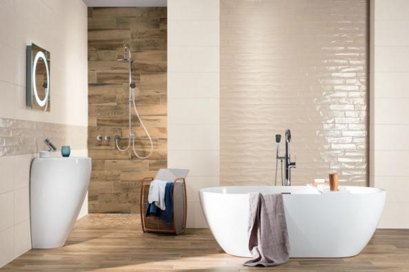 Série Mano se nechala inspirovat kořeny tradiční výroby keramiky. Stylový charakter obkládaček a laskavá barevnost vyniknou jak v rustikálních, venkovských interiérech, tak i moderních koupelnách a kuchyních. (Foto: RAKO)