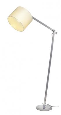 Nastavitelný pochromovaný stojan atextilní stínidlo má lampa Tenora, 60 W, cena 16302Kč, www.aulix.cz