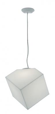 Designový lustr Edge odArtemide, stínidlo zbílého termoplastu, 48,5 x 30cm, 23 W, cena 6665Kč, www.aulix.cz