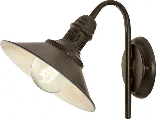 Retro design má nástěnná kovová lampa Stockbury, 22,5 x 21cm, cena 799Kč, www.hornbach.cz