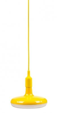 Svítidlo značky Retlux se skládá ztextilního kabelu abarevné 18wattové LED žárovky, více barev navýběr, cena 548Kč, www.retlux.cz