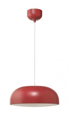 Lakované ocelové stínidlo má závěsná lampa Nymåne, Ø 40cm, doporučuje se LED žárovka 8,6 W, cena 999Kč, www.ikea.cz
