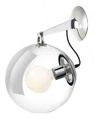 Luxusně vyhlížející nástěnné svítidlo Edison 2 odAzzardo kombinuje sklo alesklý kov, 100 W, cena 2844Kč, www.bonami.cz
