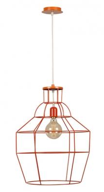 Drátěné skandinávské stropní svítidlo Cage Red, 60 x 50cm, 100 W, cena 4499Kč, www.bonami.cz