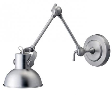 Nástěnná kovová lampa sdélkově nastavitelným ramenem až na94cm asměrově nastavitelným stínidlem,Ø 19cm, 235 W, cena 5189Kč, www.nordicday.cz