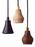 3. Závěsná LED lampa Blossom, mořený dub/tkanina, Ø 8,5cm, Applicata, cena 1 815Kč, www.trendyliving.dk
