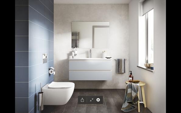 1. Harmonie v koupelně: Nová řada sanitární keramiky, nábytku, baterií a dalšího koupelnového vybavení, nazvaná Tesi, je založena na vyvážení nejmodernějších technologií a elegance tvarů. Rozsáhlá modulová řada nábytku umožňuje vytvořit kombinaci pro jakoukoliv velikost i dispozici koupelny a nabízí praktické úložné prostory a tlumené zavírání zásuvek. Skvěle se doplňuje s inteligentní sanitární keramikou. Všechny toalety kolekce Tesi jsou bez horního lemu a patentovaná technologie splachování AquaBlade zajišťuje dokonalou hygienu, výjimečně snadnou údržbu a komfortní nehlučný provoz bez šplíchání vody. Více na www.idealstandard.com