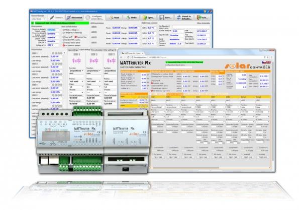 WATTrouter Mx je sofistikovaný programovatelný regulátor pro optimalizaci vlastní spotřeby pro objekty sinstalovanou FVE (SOLAR CONTROLS)