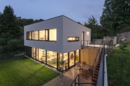 Dům, který navrhli architekti Matej Grébert, Juraj Benetín, Mirka Gašparová a Ing. Peter Cibulka, sout. kód D14
