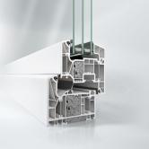 Okenní profil Schüco LivIng Alu Inside bez ocel. výztuhy v pasivním standardu (Zdroj: Schüco CZ)