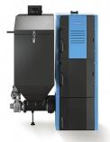 Automatický litinový kotel Buderus Logano G221 25 Alevý, 6–25 kW se zásobníkem 286 l je určen pro spalování dřevěných pelet, černého ahnědého uhlí. Emisní třída 3 (BUDERUS)