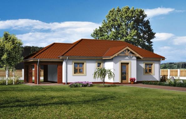 Rodinný dům Pýthie (WIENERBERGER) se stal prototypem pro studii akumulačního potenciálu cihelného zdiva ve srovnání slehkou konstrukcí (dřevostavbou totožného rodinného domu).