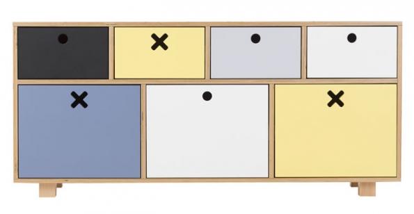 Komoda Durbas Style zbřezové překližky alakované MDF, 44 x 55 x 120cm, cena 8749Kč, www.bonami.cz