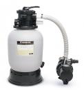 Písková filtrace Hayward 5 m3/h pro čištění vody vbazénu doobjemu 25 m3 je vybavena čerpadlem, filtrační nádobou sšesticestným ventilem amanometrem (MOUNTFIELD)