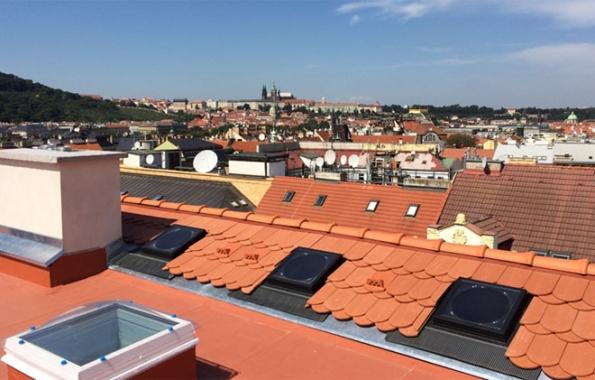 Veřejné stavby: 1. místo - rekonstrukce střechy půdní nástavby v Praze – Nové Město