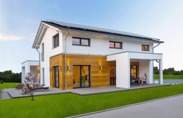 Efektivní provoz svysokou mírou komfortu poskytuje nový dům společnosti Haas Fertigbau Jubilee XXL Plus. Jde okombinaci promyšlené architektury asofistikovaných technologií.