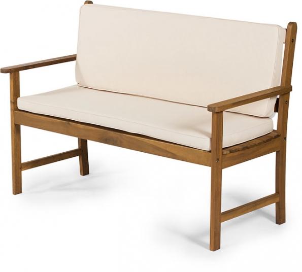 Dvojmístná zahradní lavice FDZN 4013 je vyrobena ze dřeva tropické akácie ahodí se na zahradu ido interiéru. Lavici je možné doplnit potahy ve třech barevných variantách. Výrobce: FIELDMANN, cena:1849 + 699Kč www.fieldmann.cz