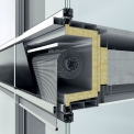 Integrace sluneční clony Schüco CSB do fasádního systému Schüco FWS 50.