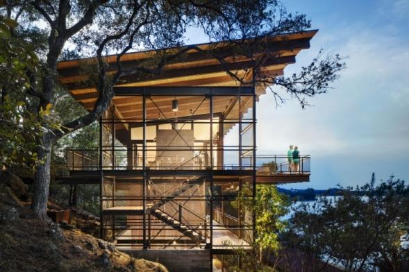 Chata na Modrém jezeře – Blue Lake Retreat, LakeFlato Architects (Foto: Andrew Pogue)