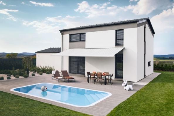 Dům Ideal City si získal oblibu idíky možnosti přizpůsobit se vkusu stavebníků. Různé úpravy fasády od barevného nátěru po obklad vrůzných kombinacích umožňují vytvořit vlastní styl.