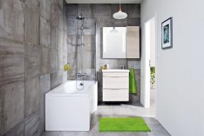 Koupelnová série Tigo zn. Jika byla vyvinuta speciálně pro malé koupelny. Kasymetrické vaně orozměrech 160x80/70cm si můžete objednat isprchovou zástěnu. Více na www.jika.cz nebo nawww.siko.cz
