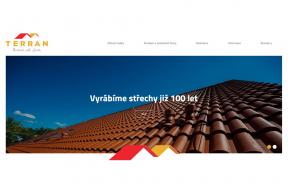 Nová grafika webových stánek TERRAN vám od úvodní stránky dává najevo, že jste na stránkách významného středoevropského výrobce betonové střešní krytiny.