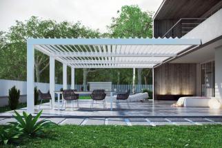 Hliníkové pergoly jsou oázou klidu pro zahrady a terasy, kde vytvářejí elegantní prostředí a maximální pohodlí téměř po celý rok. Dokonalý design, funkčnost, komfort a radost z pobytu venku. Ve stínu zahradních pergol strávíte příjemné chvíle se svou rodinou či přáteli.