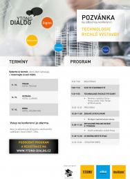 Zajímá vás, jak zrychlit a zefektivnit výstavbu a současně dodržet veškeré normy? Potkejte se sodborníkyspolečnosti Xella CZ na odborné konferenci Ytong Dialog nebo na veletrhu For Arch.