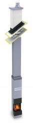 Zajímavým produktem jsou monolitické komínové systémy Schiedel Kingfire se zabudovanou krbovou vložkou