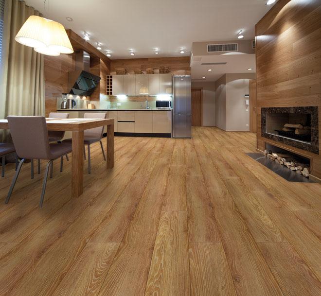 Laminátová podlaha 1Floor, kolekce Grande XXL, dekor Dub Ridgefield (Zdroj: KPP)