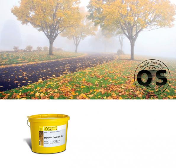 StoArmat Classic Plus QS pro aplikace ve vlhkém a chladném počasí (Zdroj: Sto)