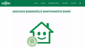 Asociace dodavatelů montovaných domů představila své nové webové stránky www.admd.cz (Zdroj: ADMD)