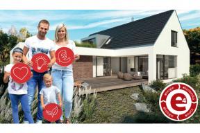 Řešení bydlení vrodinných domech po roce 2020? Spolehněte se na koncept cihlového Wienerberger e4 domu. Ten pomáhá stavebníkům bez starosti postavit moderní cihlový dům s krásnou střechou zpálené krytiny. (Zdroj: Wienerberger)