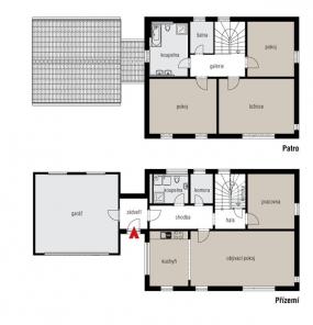 Půdorys domu