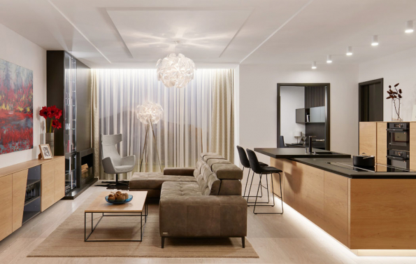 Hanák nábytek moderní kuchyně dýha (Zdroj: HANÁK)