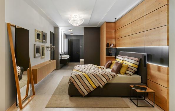 Hanák nábytek ložnice dýha dveře koupelna (Zdroj: HANÁK)