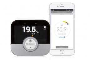 Zájemcům o ovládání tepelného čerpadla na dálku je toto umožněno přes nový systém inteligentního prostorového regulátoru s vlastní mobilní aplikací podoznačením SMART TC°. (Zdroj: De Dietrich)