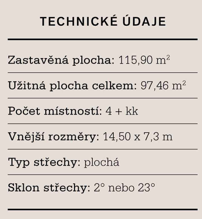 Virgo 97: technické údaje (Zdroj: ATRIUM)