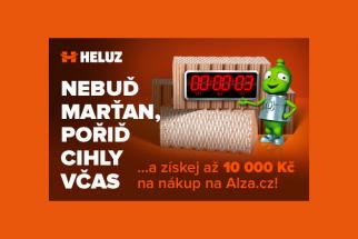 Objednávku cihel HELUZ v období od 1. února do 31. března 2019 zatraktivní stejně jako loni dárkový poukaz v hodnotě až deset tisíc korun na nákup libovolného zboží na Alza.cz. Společná akce společnosti HELUZ a internetového obchodu Alza.cz je určena zákazníkům, kteří si nechají u společnosti HELUZ zpracovat výkaz výměr na stavební materiál pro rodinný dům, následně si cihly HELUZ objednají a odeberou ve stanoveném termínu. (Zdroj: HELUZ)