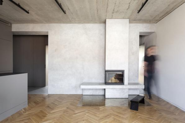 Byt pro mladou rodinu přihlášený do kategorie Rekonstrukce. Autory řešení jsou Martin Ptáčník a Ondřej Janků ze studia Collarch ve spolupráci s Kamilem Škábou.